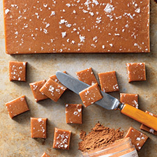 Pumpkin Spice Caramels - Here is another sweet that is perfect at the end and if you wanted to, you could make these ahead of time and wrap them up in waxed paper and send some home with your guests in their turkey (aka doggie) bag.