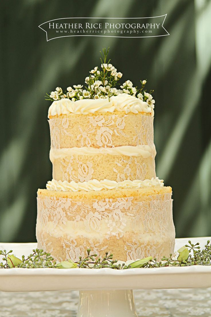 Naked Cake with Lace