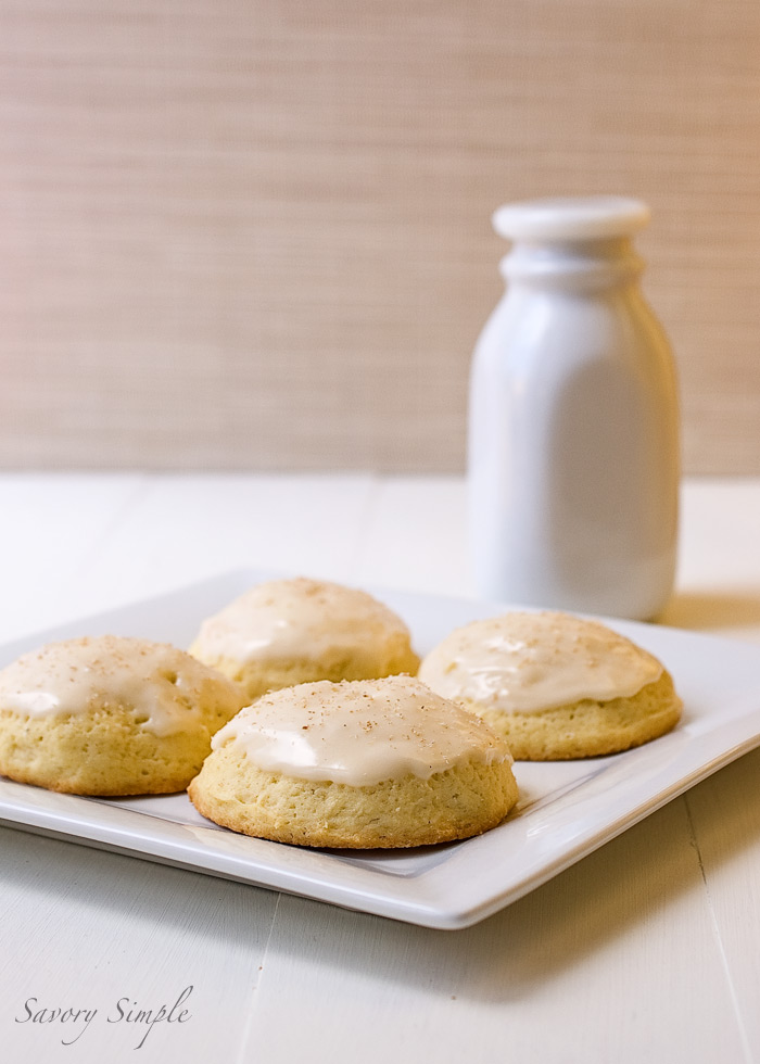 Eggnog Cookies - Every year I look for a cookie that will taste like eggnog and every year I seem to find a cookie that is CLOSE but not what I'm looking for. THIS cookie might be the one I've been searching for! Soft and with an icing and extra spice, it looks like a winnder to me!