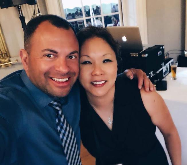 Patrick Lally, Wedding DJ and Donna Kim, Wedding Planner on location