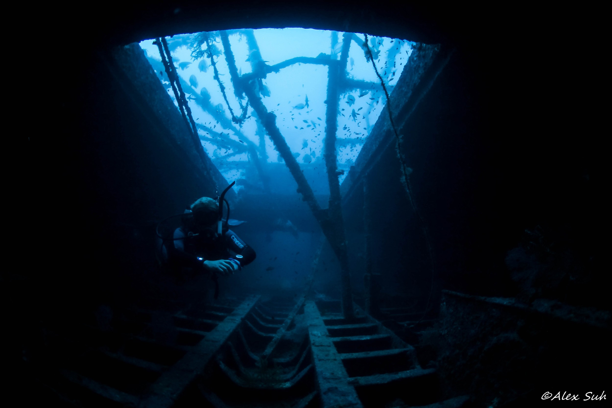Inside the Hull with Diver