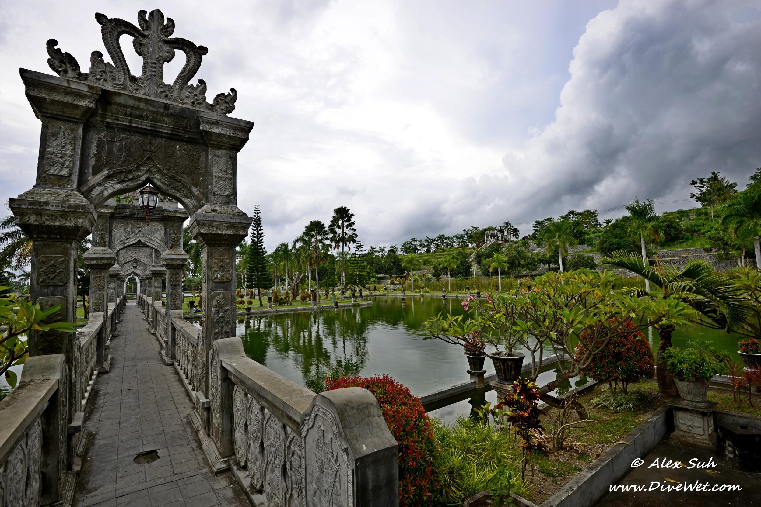 Bali Water Palace Bridge Garden Wide.jpg