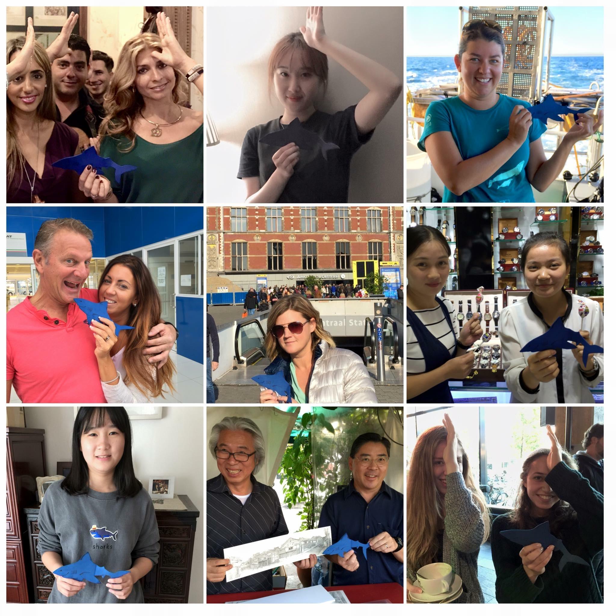 SpenceTheShark in Korea, Amsterdam, Mexico, Cuba and China