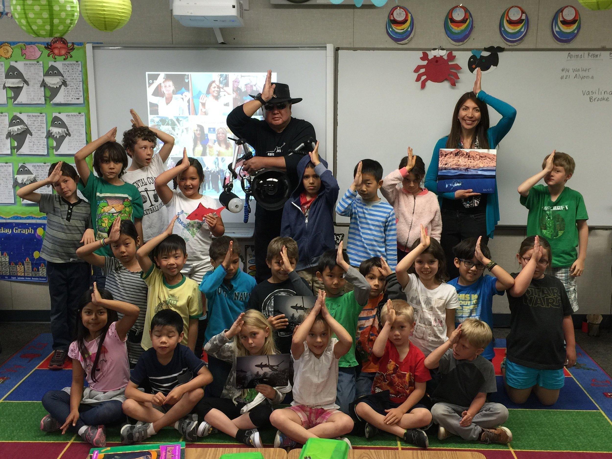 #SpenceTheShark Presentation to So Pasadena Elementary School class