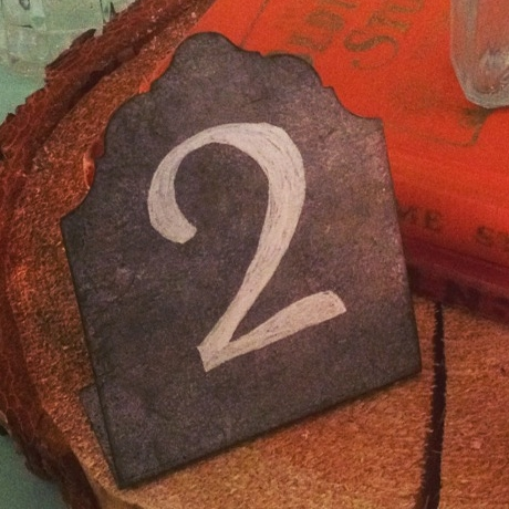 Galvanized Steel Table Number