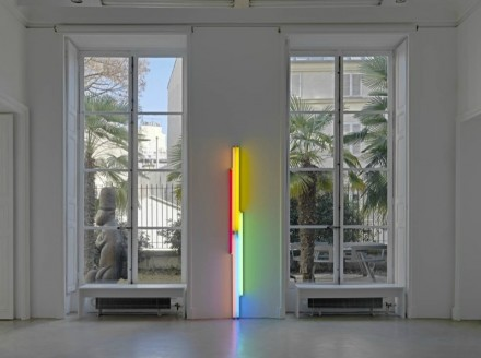 Minimalist light sculptures of artist Dan Flavin