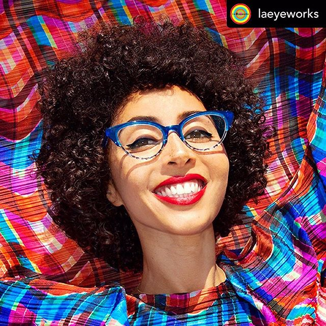 How many watts to you think this smile is? ZAP!! @marawa is such a dream shoot! She is the latest face of the 💥NEW💥 exciting @laeyeworks #UncensoredVisions campaign. I love shooting this campaign because the imagery really emphasizes how Joyful life gets to be and Joy and electricity, to me, really is in the spirit of the designs.  Fun Fact: This image was shot at the Bob Baker Marionette Theater the last day it was open in Westlake.  Re-posted @withrepost • @laeyeworks COMING SWOON! Our fall collection blasts off in a chromatic swirl with TURBAN worn by the dynamic, crazy-talented and inspiring Marawa @marawa, photographed by Josef Jasso. In addition to holding 12 Guinness world records—including the most hula-hoops spun by a single performer (that would be 200)—Marawa Ibrahim is also an author, teacher, photographer, and videographer. Along with her hooper troupe The Majorettes, Marawa has performed at festivals, fashion events, and on television shows worldwide, demonstrating with astonishing skills the unstoppable strength of women and women's teamwork. [📸: @josefjassophoto]