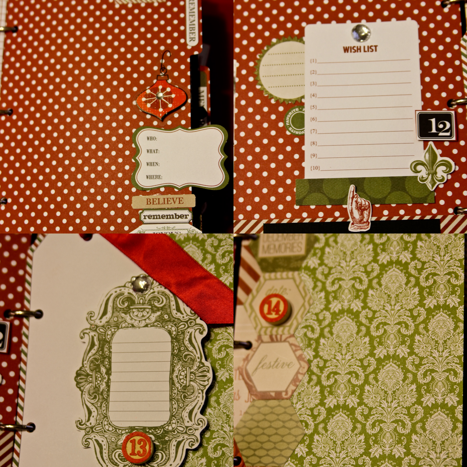 Journal Your Christmas Part II Using Teresa Collins