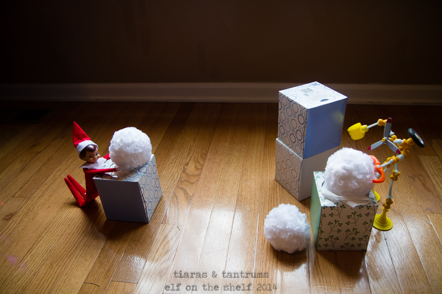 Operation Tradition: Magic Snowball Fight with Elf on the Shelf & Hallmark