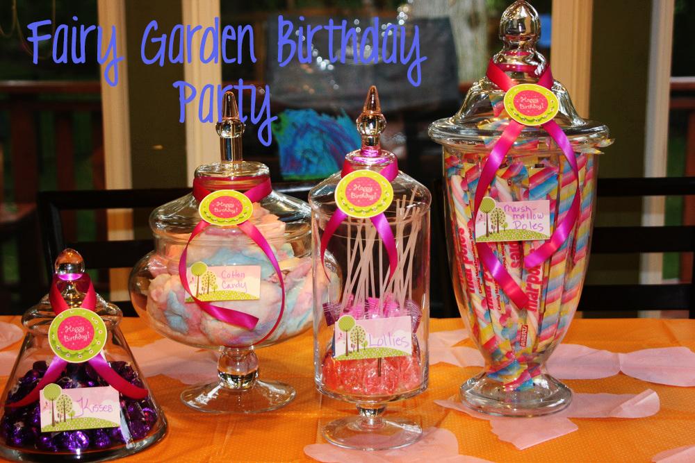 Fairy Garden Birthday Party Dessert