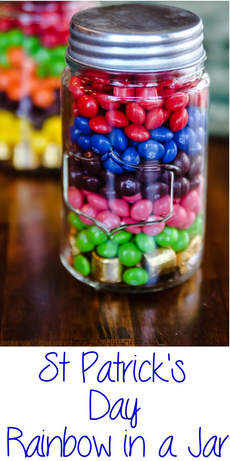 St Patrick's Day rainbow in a Jar
