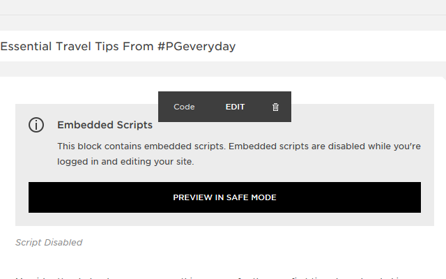 How to Install CODE on Squarespace