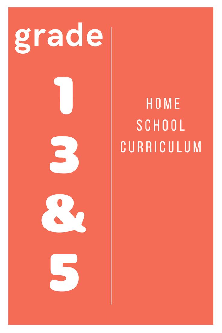 HomeSchool Curriculum Grades 1, 3 & 5