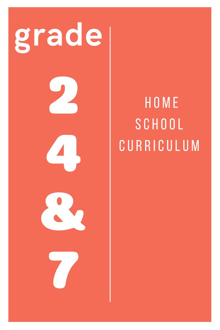 Homeschool Curriculum Grade 2 4 & 7