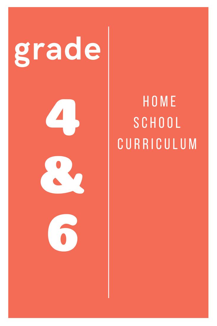 Home School Curriculum Grade 4 & 6