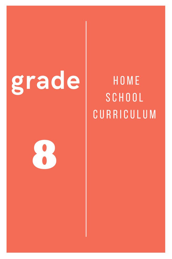 Home School Curriculum Grade 8