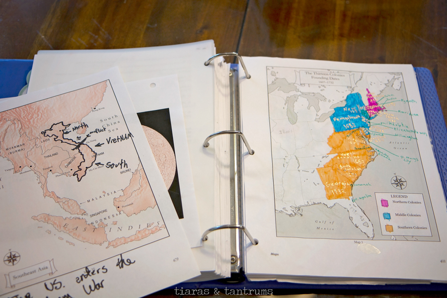How To Create Mystery of History Student Binder for Homeschooling Tiaras & Tantrums