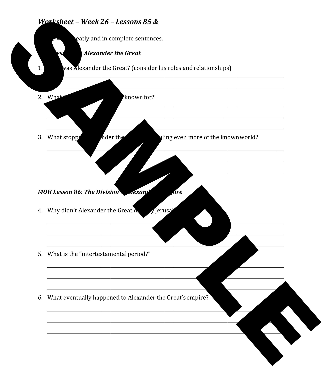 Worksheet Sample