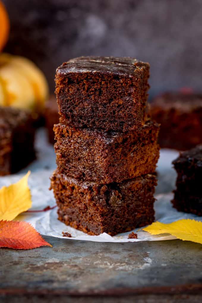 PUMPKIN GINGERBREAD CAKE WITH STICKY WHISKY GLAZE