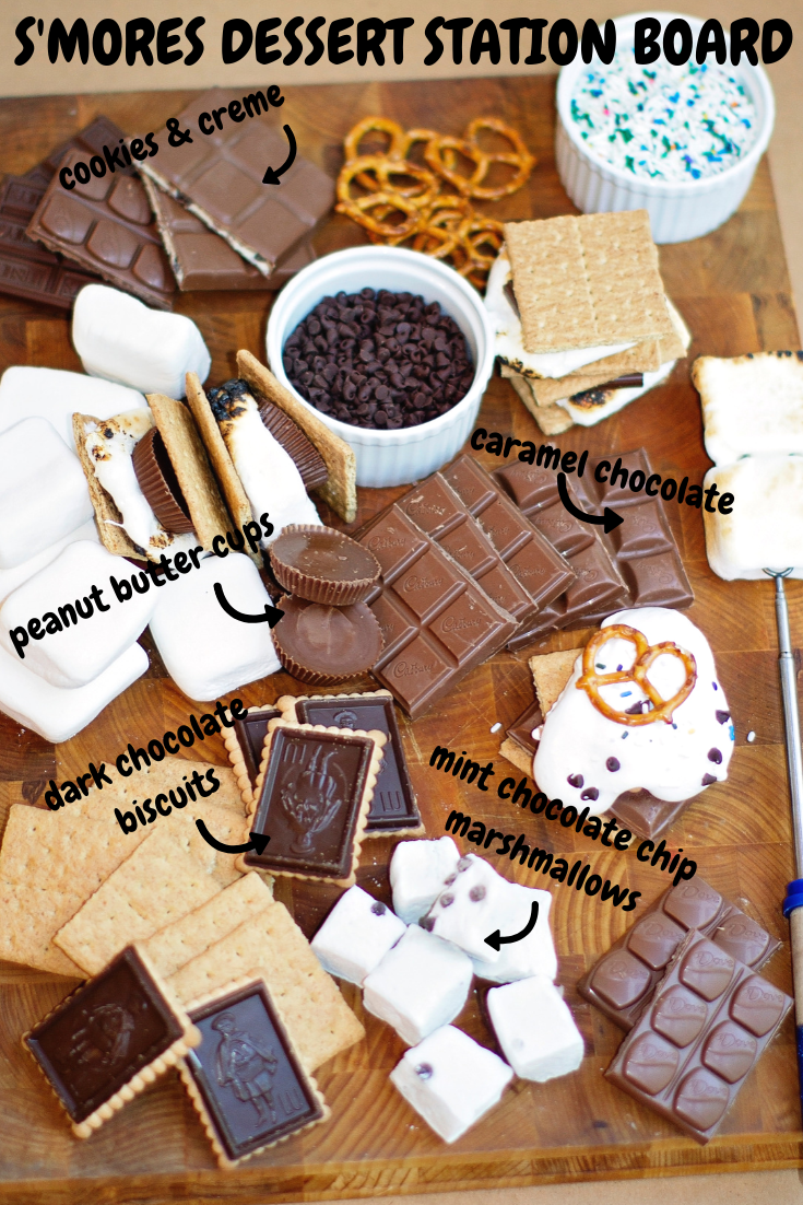 DIY S'MORES DESSERT STATION BOARD