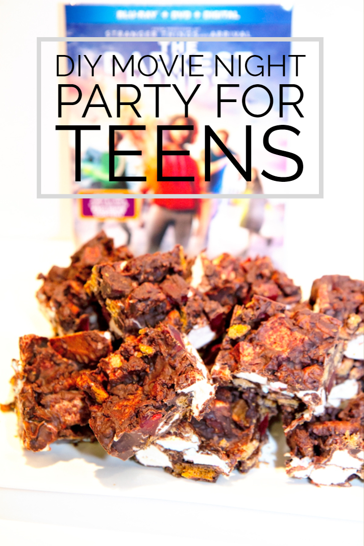 DIY Movie Night Bar Party for Teens Rocky Road Recipe The Darkest Minds