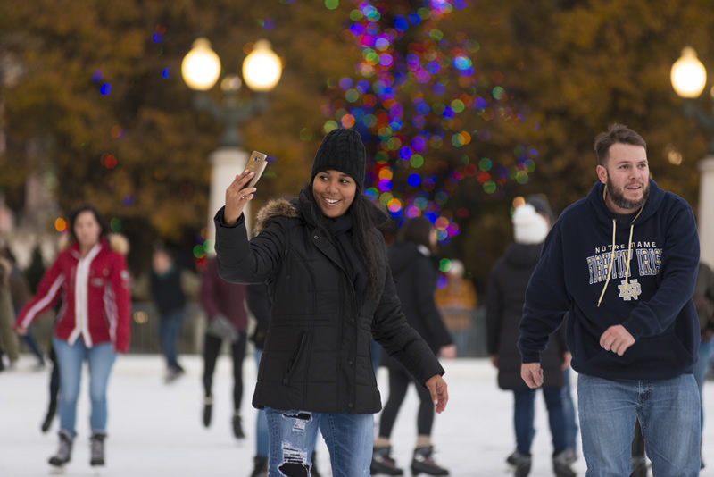 Chicago Guide To the Holidays Ice Skating at McCormick Tribune Ice Rink in Millennium Park
