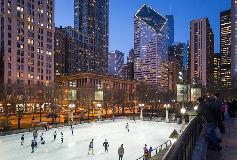 Chicago Guide to the Holidays McCormick Tribune Ice Rink in Millennium Park