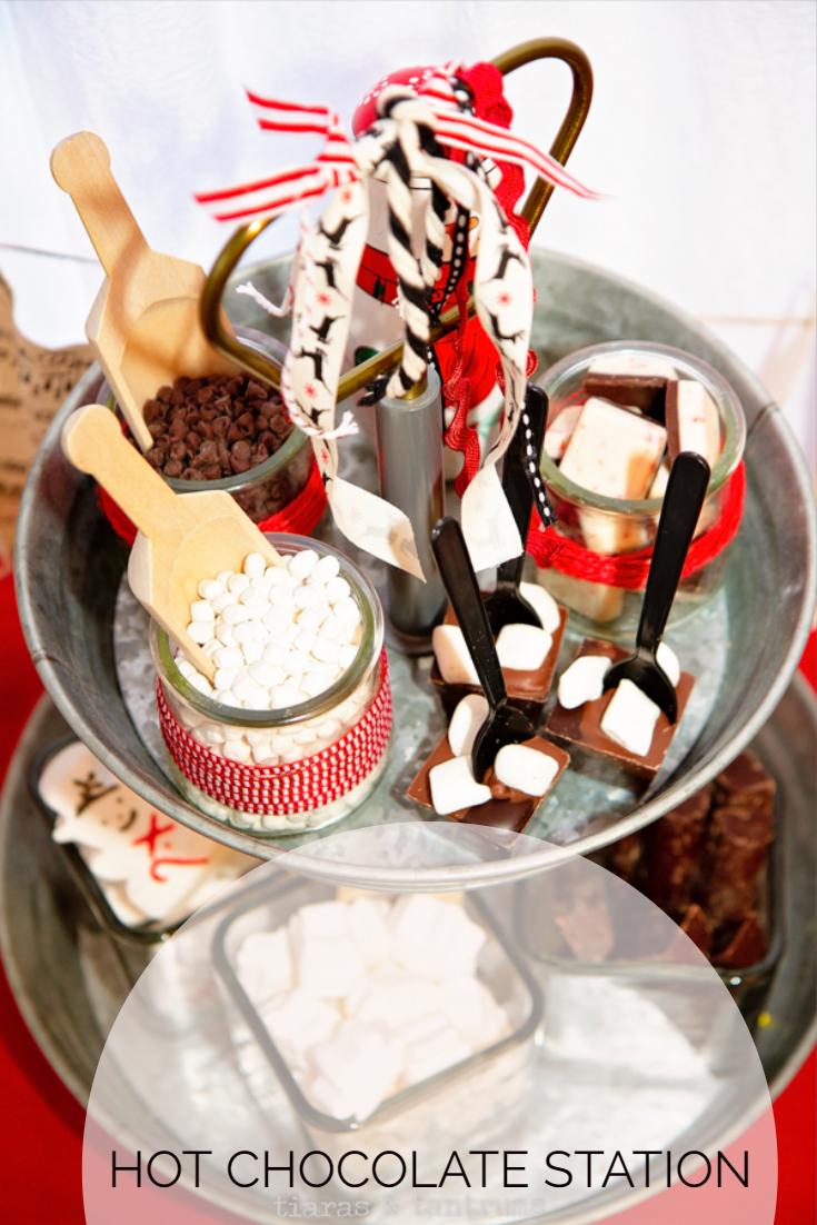 Hot Chocolate Station with Vitamix #vitamix #hotchocolate #hotcocoabar