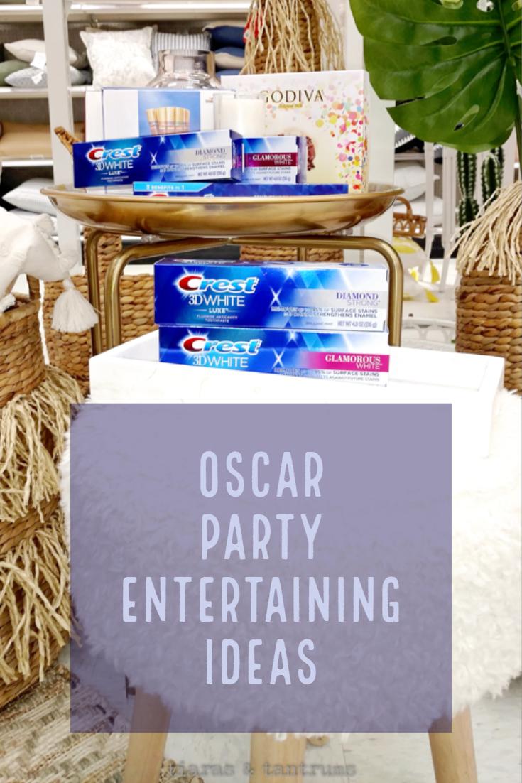 Oscar Party Entertaining Ideas #OscarsParty #Oscars Hosting an Oscars Party