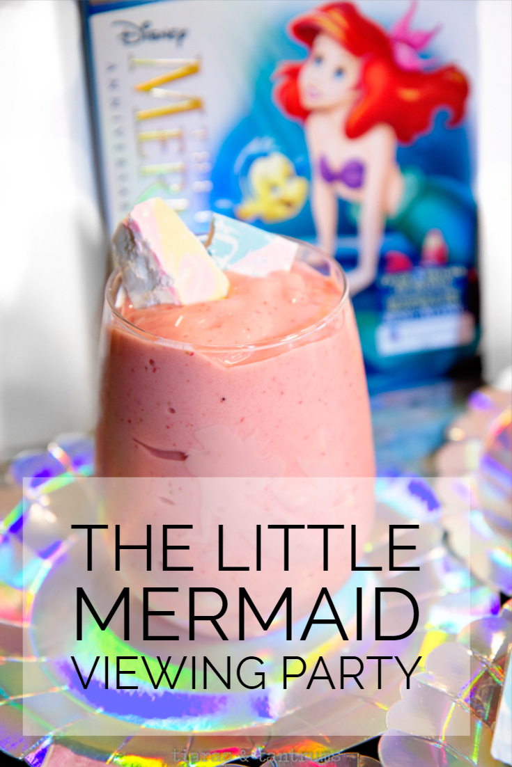 The Little Mermaid Viewing Party  with Mermaid Smoothies #TheLittleMermaid #FamilyMovieNight #Smoothies #Mermaid