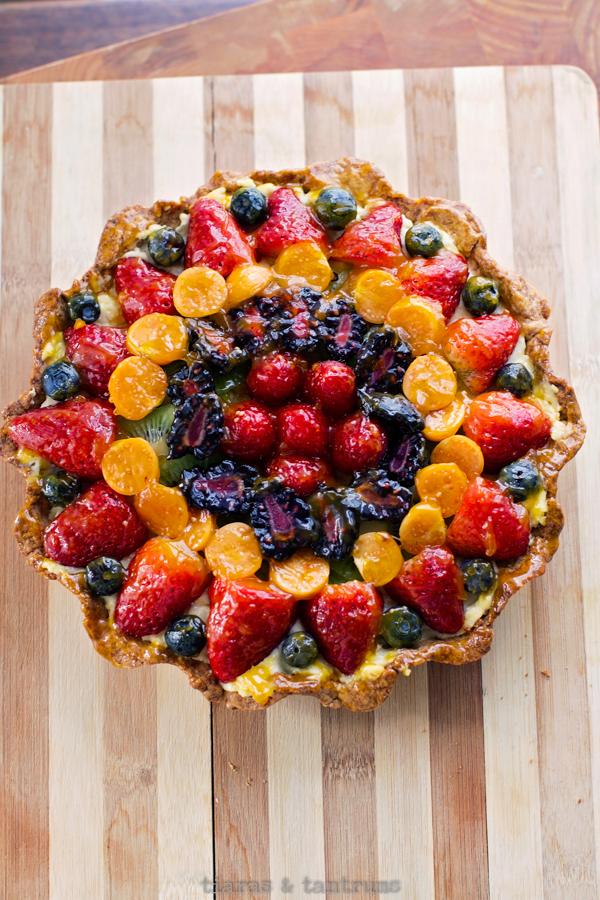 Fresh Fruit Tart Recipe #fruitTart #freshfruittart #fruittartrecipe