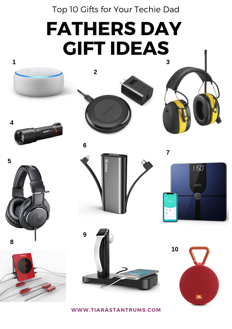 Top 10 Gifts for Your Techie Dad 35 Father's Day Gifts Under $50 Father's Day Gift Ideas #fathersday #giftideasforhim #giftideas