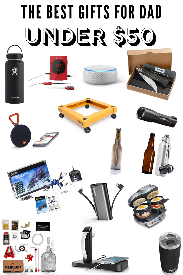 The Best Gifts for Dad Under $50 35 Father's Day Gifts Under $50 Father's Day Gift Ideas #fathersday #giftideasforhim #giftideas