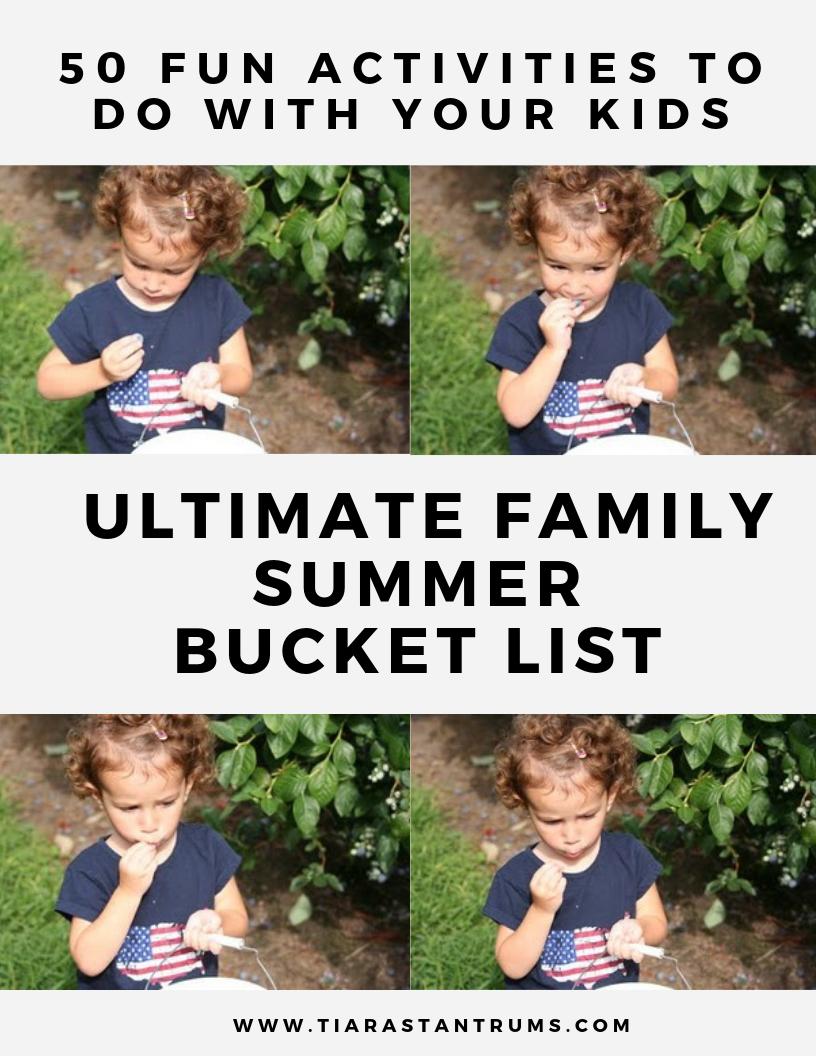 Ultimate Family Summer Bucket List #summerbucketlist19
