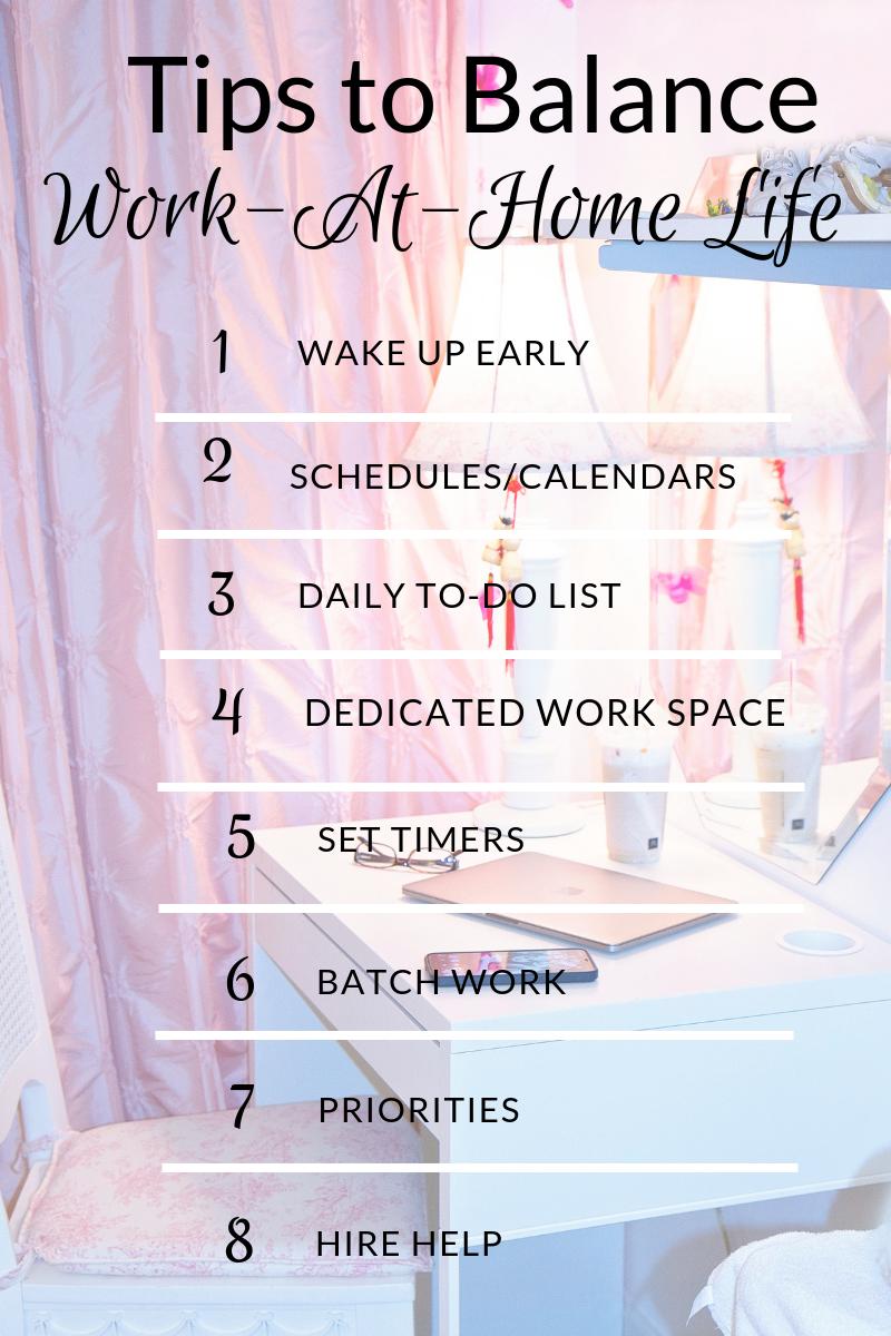 Tips To Balance Work-At-Home Life #SAHM #WAHM #WorkingMom #BalancingLife
