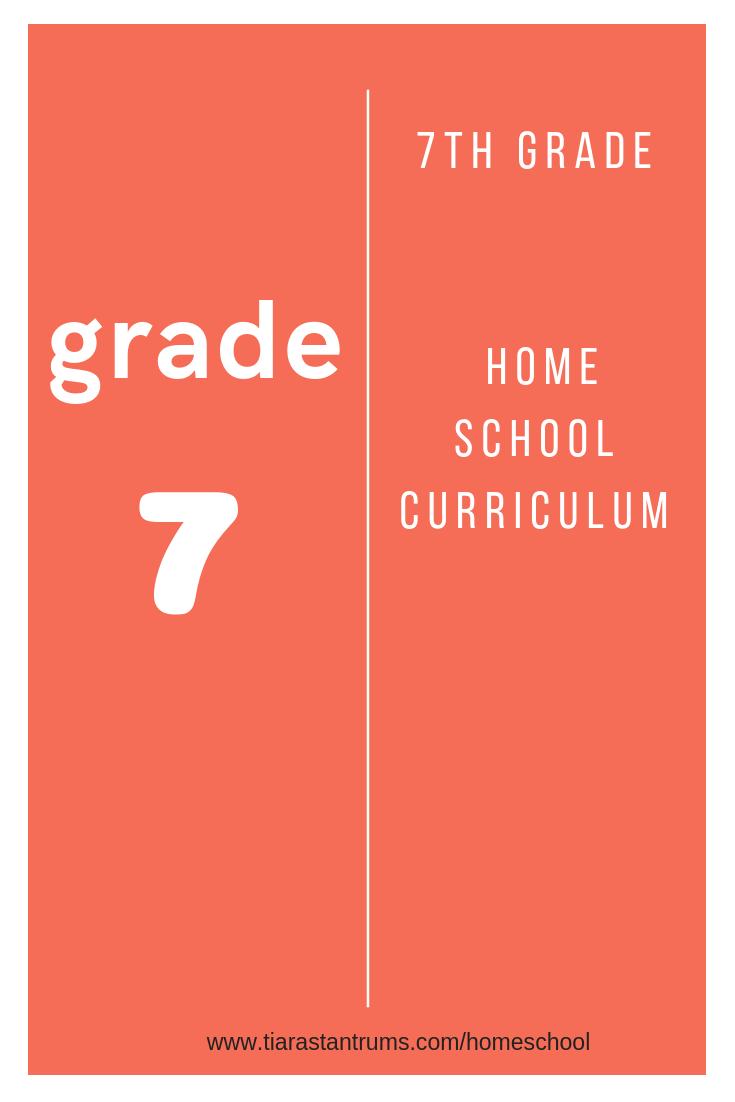 7th Grade Homeschool Curriculum #homeschool #homeschoolcurriculum #7thgradehomeschool