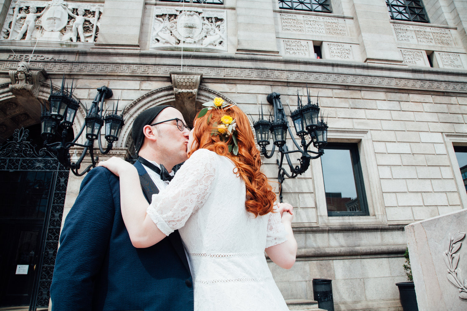 Katie + Ben at their Boston Public Library wedding (Boston, MA)