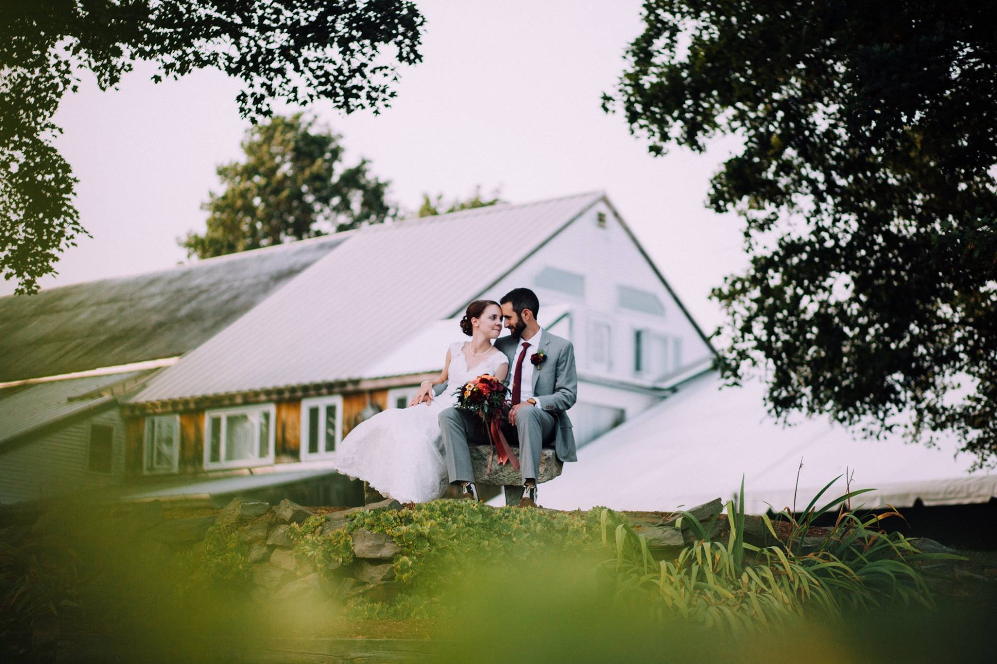 Kristen + Matt at their Flag Hill Winery wedding (Lee, NH)