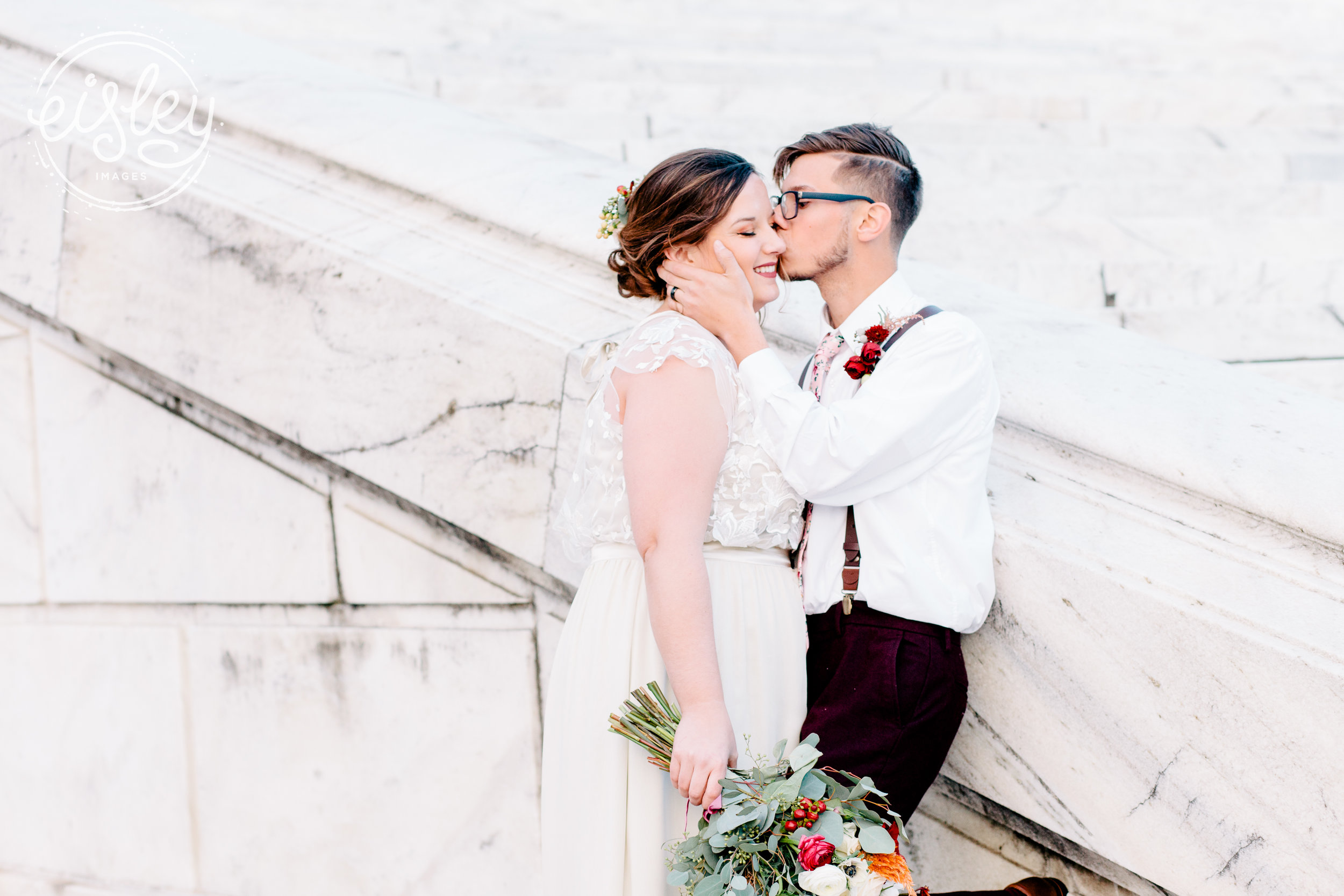 Olivia + Tyler at the Rhode Island State House following their ceremony at Gloria Dei Lutheran Church (Providence, RI)