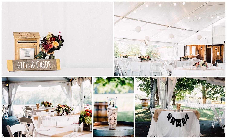 Flag Hill Vineyard Tented Wedding in Lee, NH