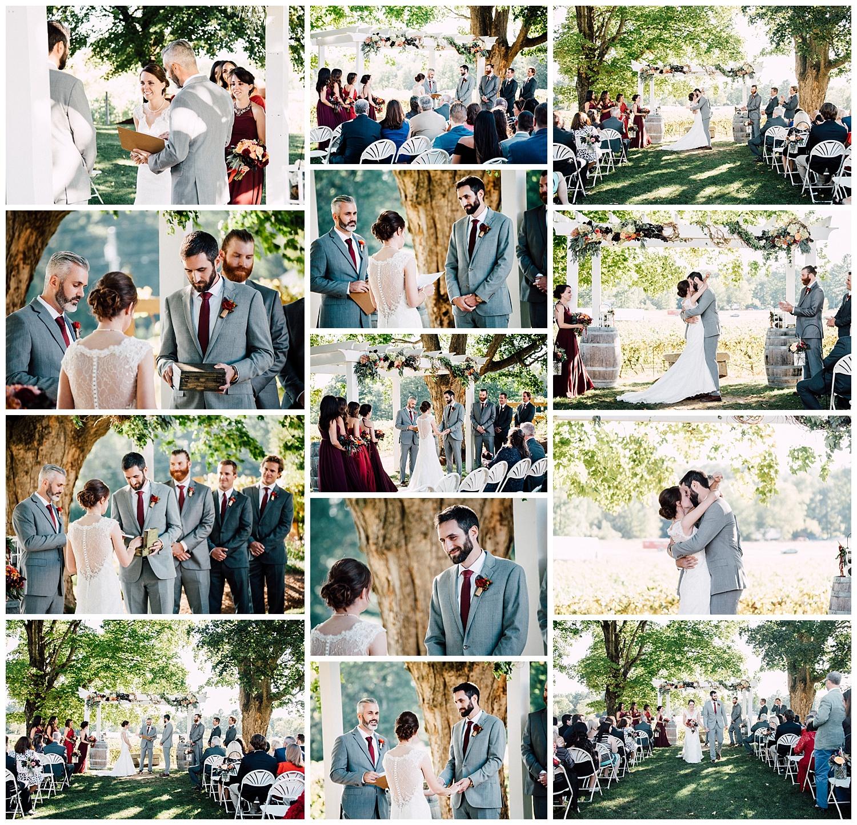 Matt & Kristen's joyfully tearful September ceremony at the top of Flag Hill's vineyard