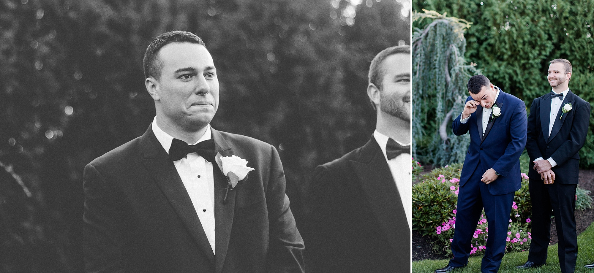 A first moment didn't sour their ceremony aisle first look in the least. The sweetest reaction! We were tearing up behind our cameras