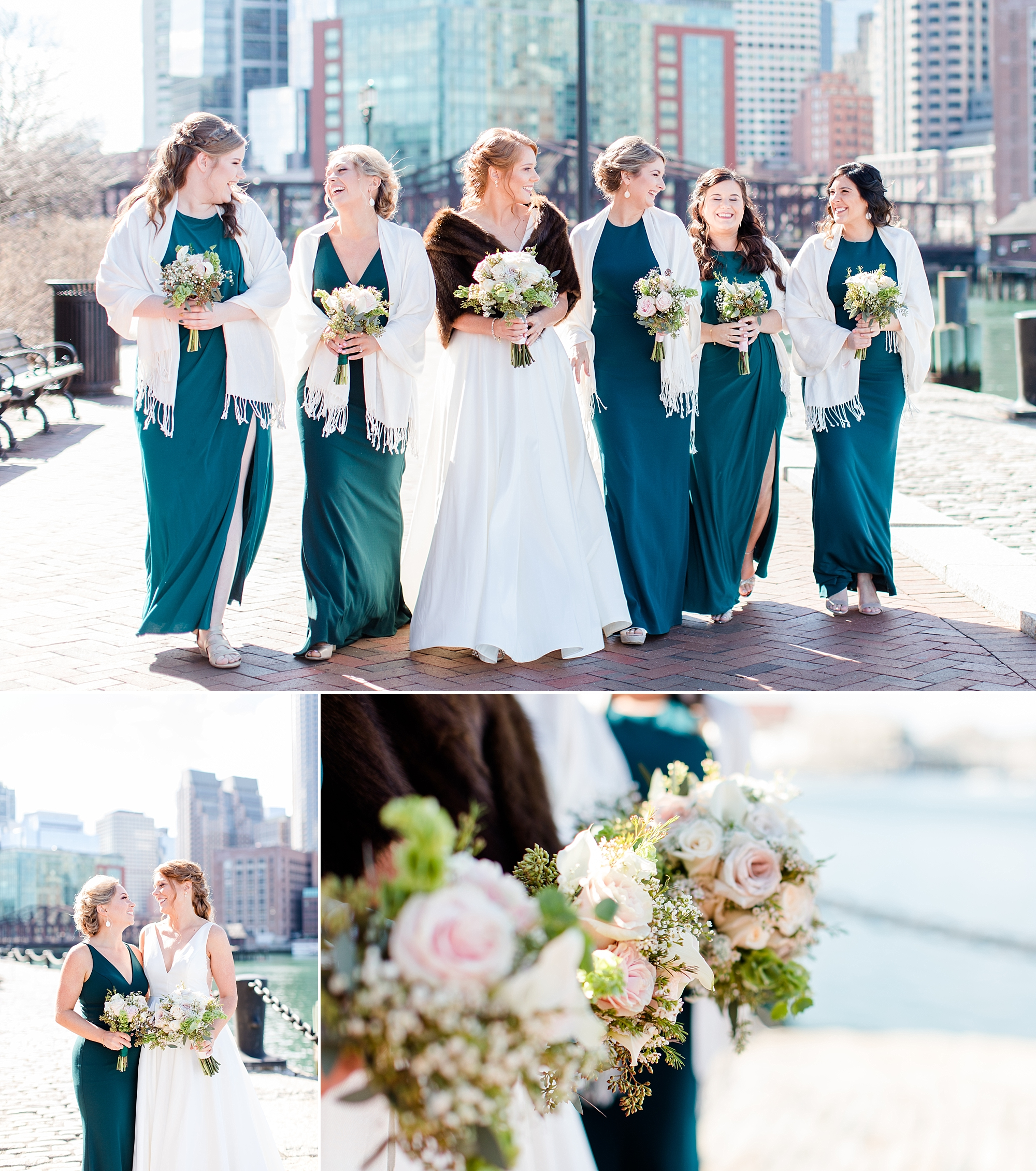 Pro tip: If you want to be blessed by the presence of cute puppies and bundled babies in strollers, you'll want to take bridal party photos here! Every two seconds there was a new pup or babe to gush over. It was simply amazing!
