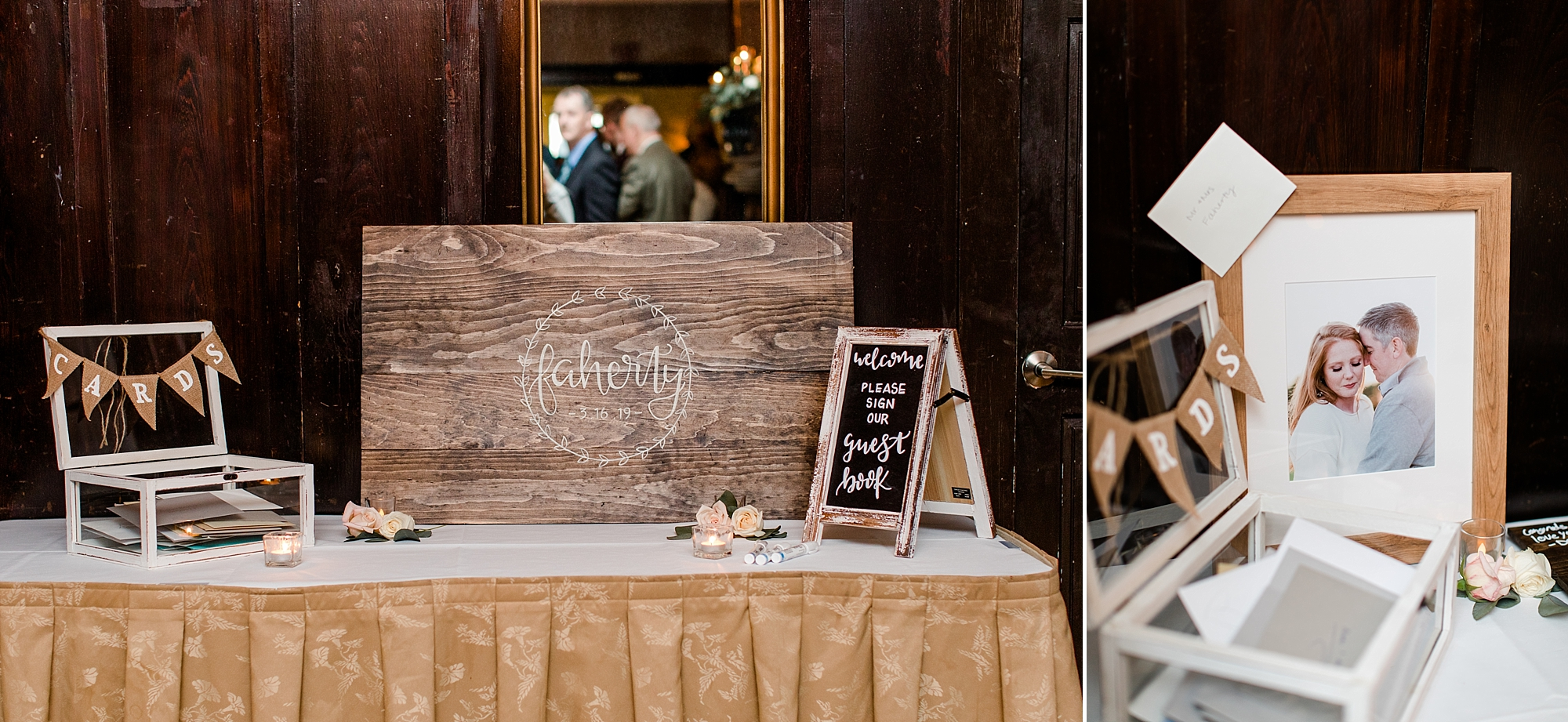 The hand lettering scattered throughout the wedding decor was our favorite personalized touch.   ps. We couldn't help but sneak a special gift to our couple before we left for the night.