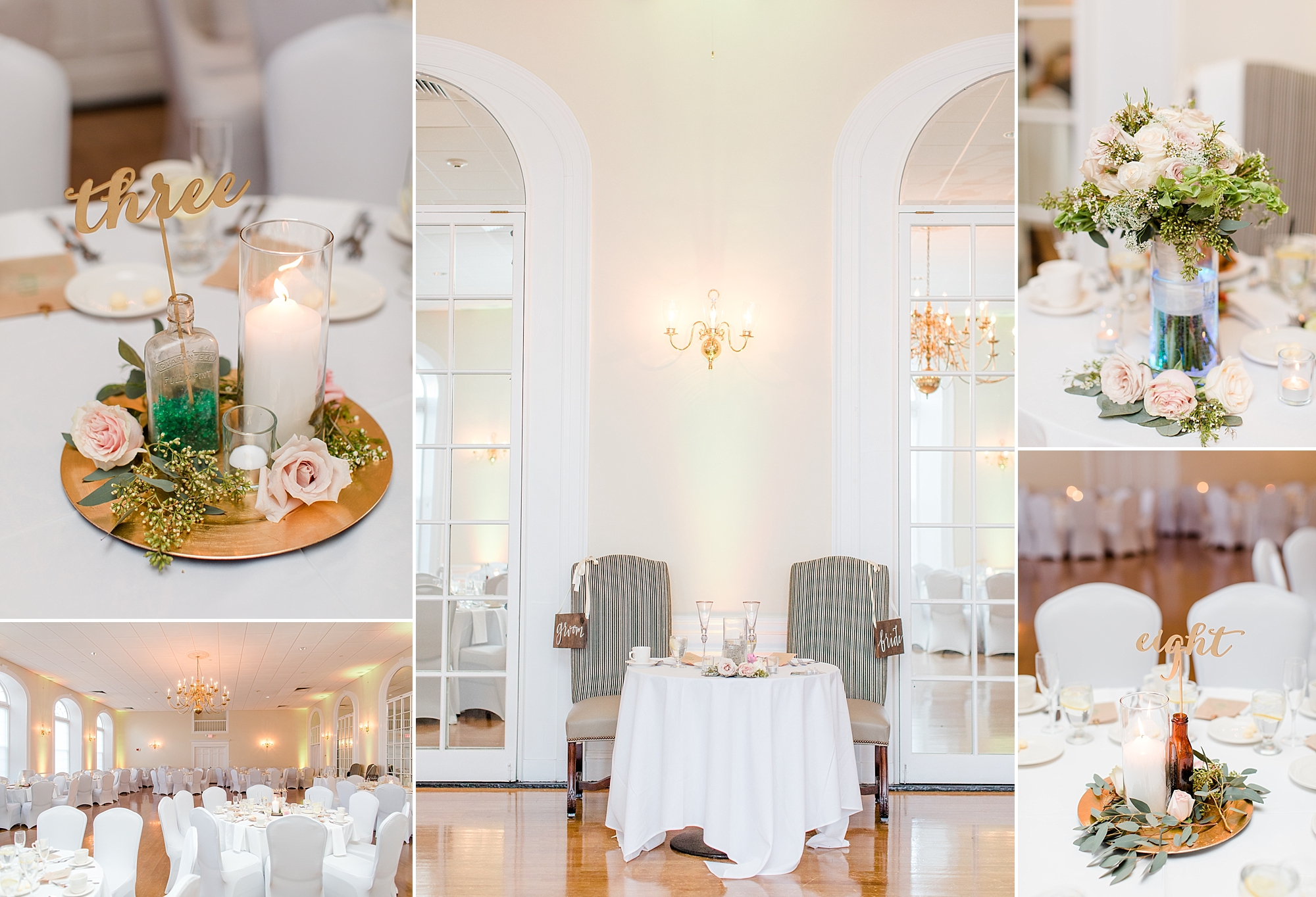 The abundance of natural light beaming in from the windows of the ballroom at the Neighborhood Club of Quincy is a photographer's dream!