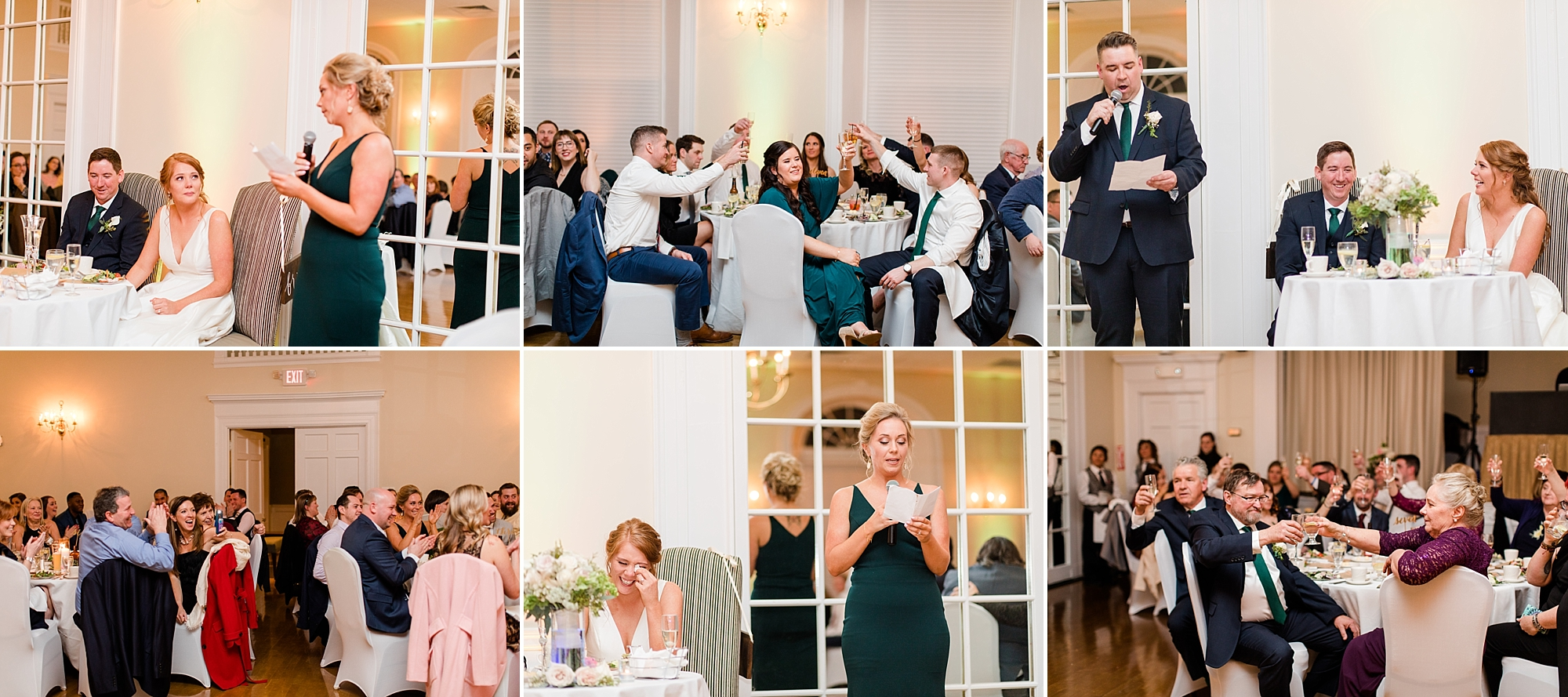 Anna's little sister/Maid of Honor delivered the sweetest toast that had a closing statement that had the crowd roaring with laughter. She set up the crowd perfectly for Bob's brother, Martin. From start to finish, he had us all in tears from laughing. It was truly the best way to start the night!