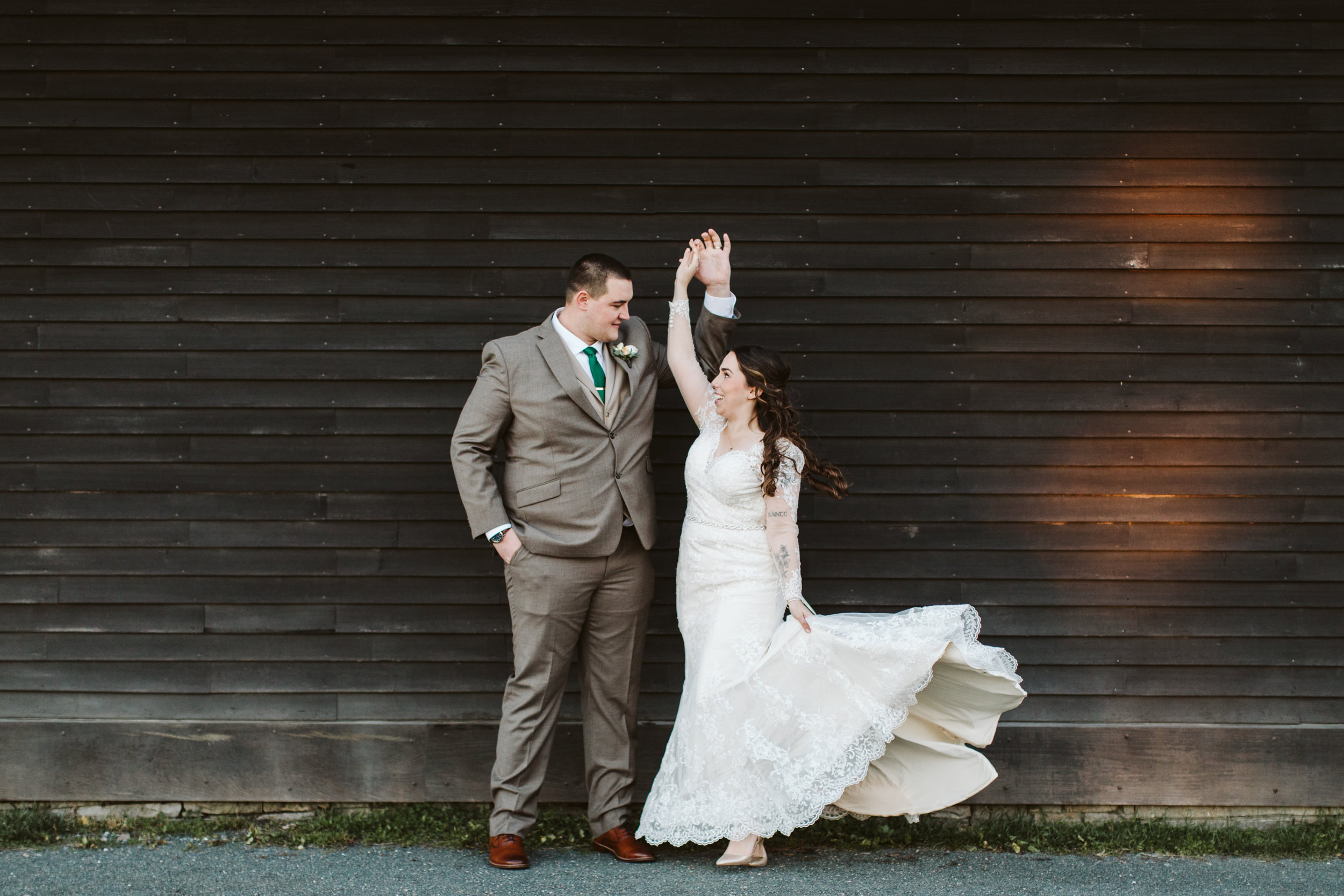Margaret + Joseph share a dance following their Salem Waterfront Hotel & Suites wedding (Salem, MA)