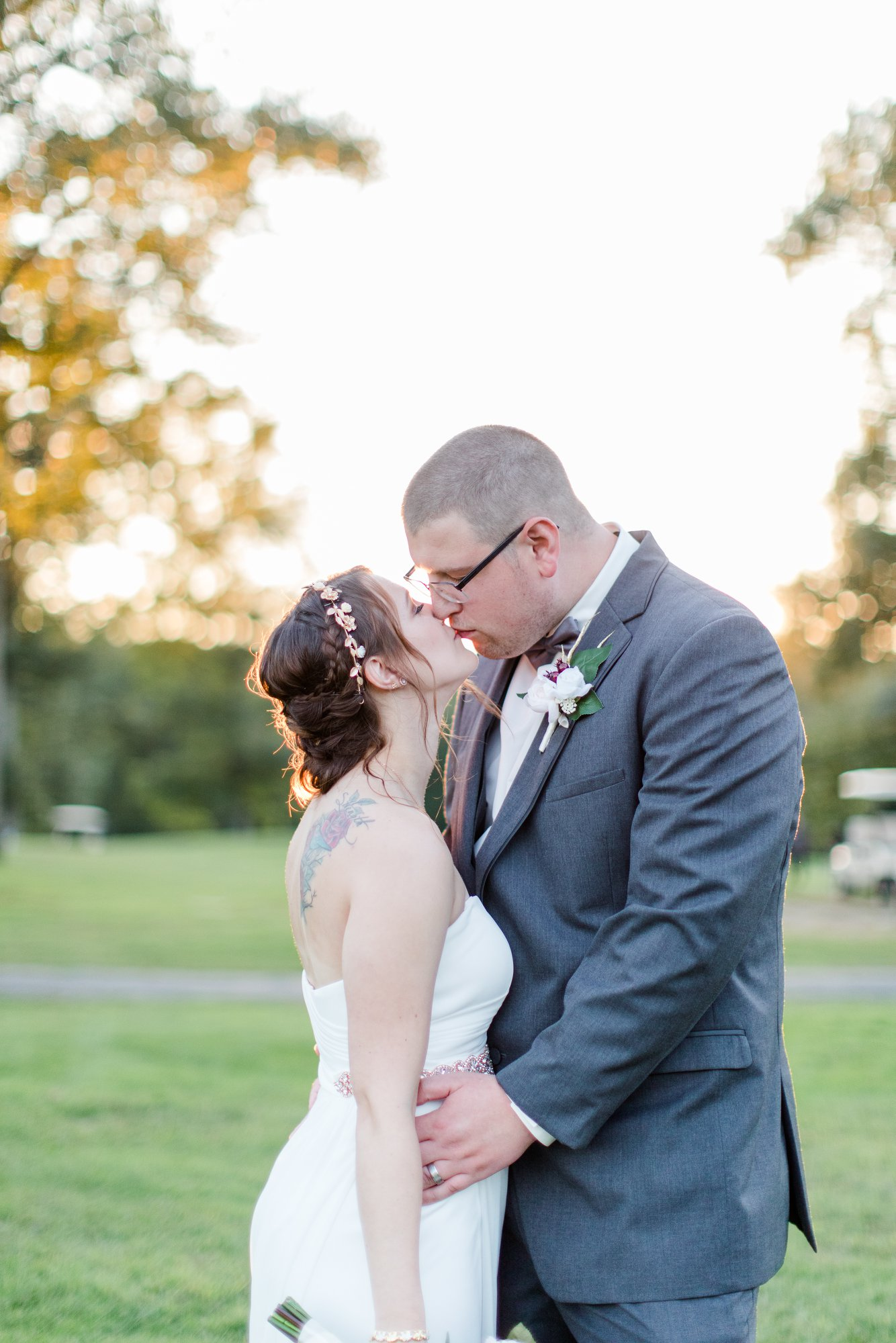 Renee + Ryan at their Leicester Country Club wedding (Leicester, MA)