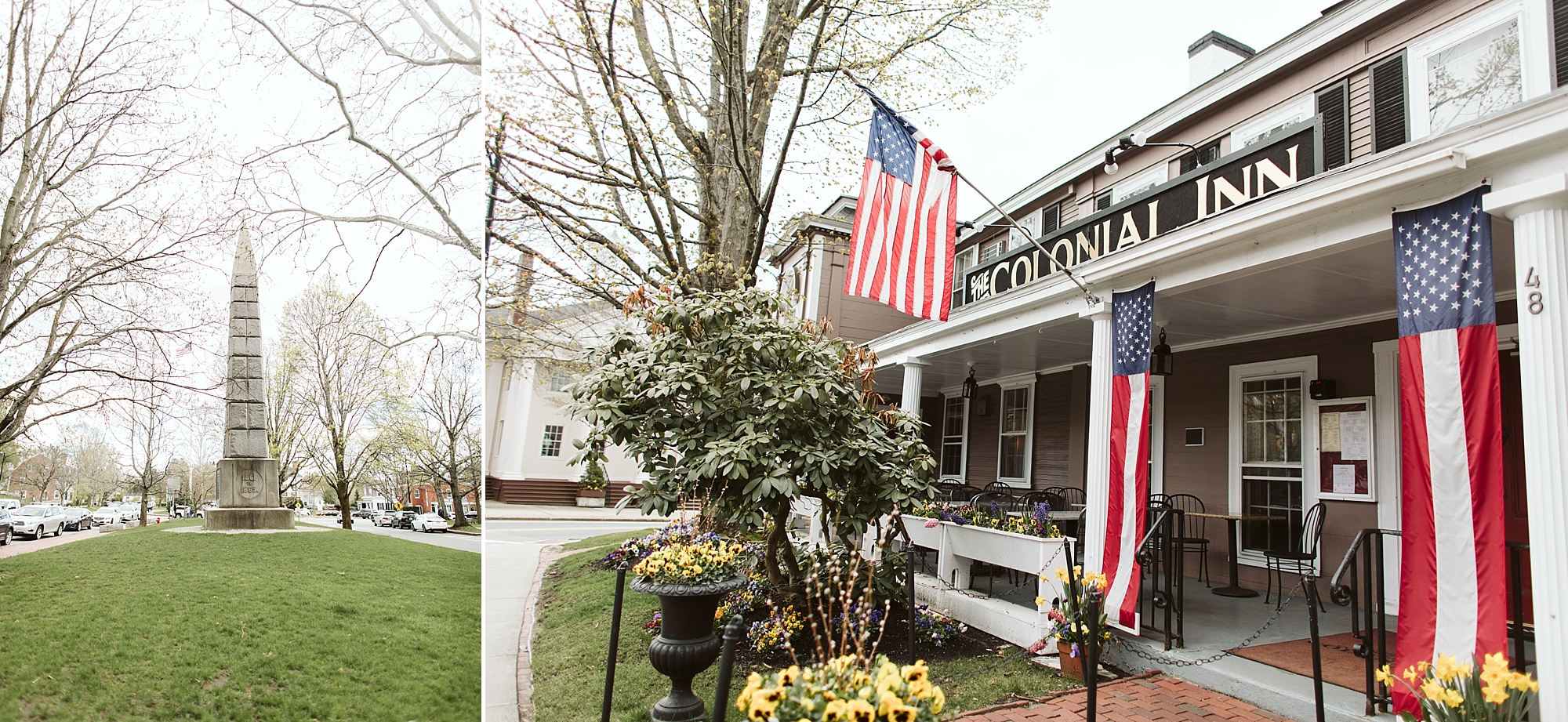 Concord's Colonial Inn located in Monument Square