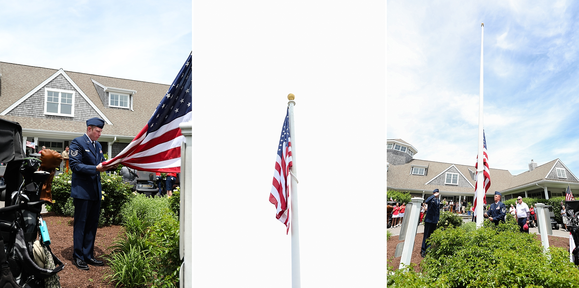 The presentation of colors by the Color Guard from Joint Base Cape Cod Air National Guard